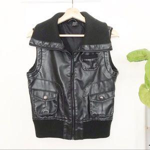 """""""Leather"""" Moto Vest"""